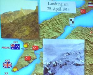 Bild Karte der Schlacht Gallipoli 1915