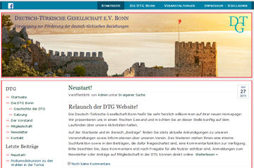 Bild der DTG-Website